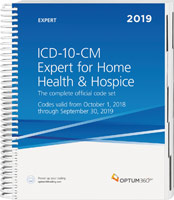 ICD-10-CM Expert for Home Health 2019 Book Cover
