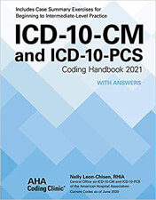 ICD-10-CM and ICD-10-PCS Coding Handbook 2021 With Answers Book Cover