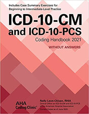 ICD-10-CM and ICD-10-PCS Coding Handbook 2021 Without Answers Book Cover